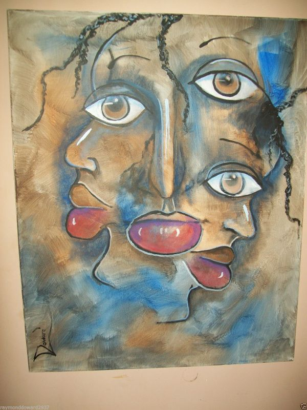 "Original 24x36"" Ethic African American Urban Canvas Wall Art - Doward Fine Ar Prints"
