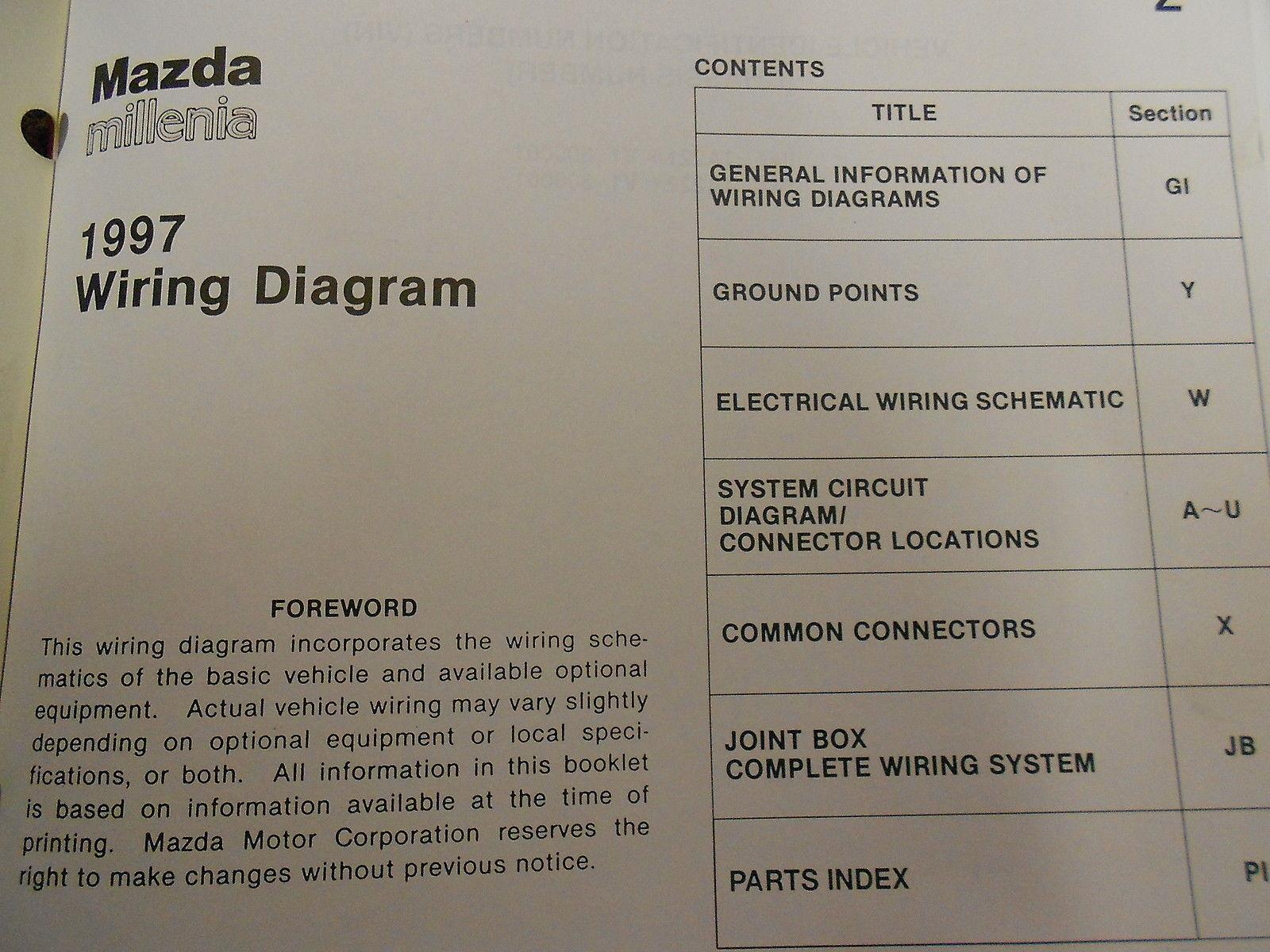 hight resolution of 1997 mazda millenia service repair shop manual huge set factory oem books 97