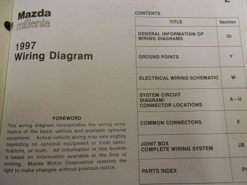 small resolution of 1997 mazda millenia service repair shop manual huge set factory oem books 97