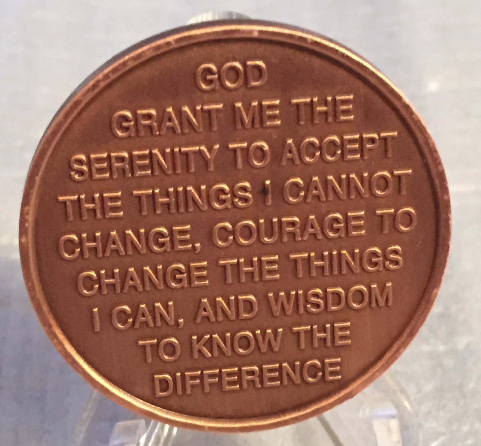 Step 7 Copper Twelve Step Medallion Aa Na Recovery 12