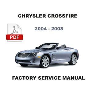2004  2008 CHRYSLER CROSSFIRE FACTORY SERVICE REPAIR MANUAL  WIRING DIAGRAM  Service & Repair
