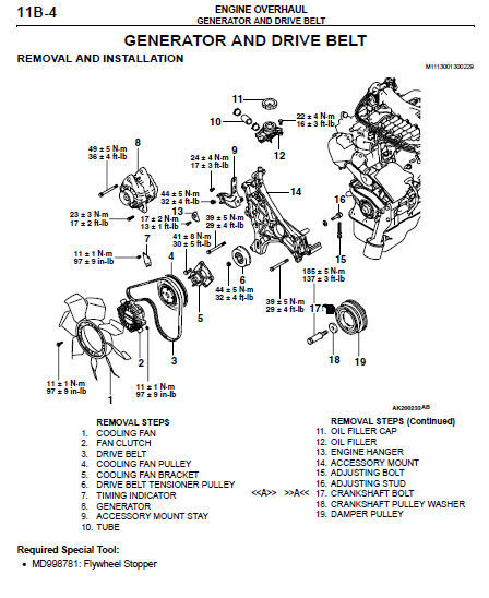 [2000 Mitsubishi Montero Sport And Maintenance Manual Free