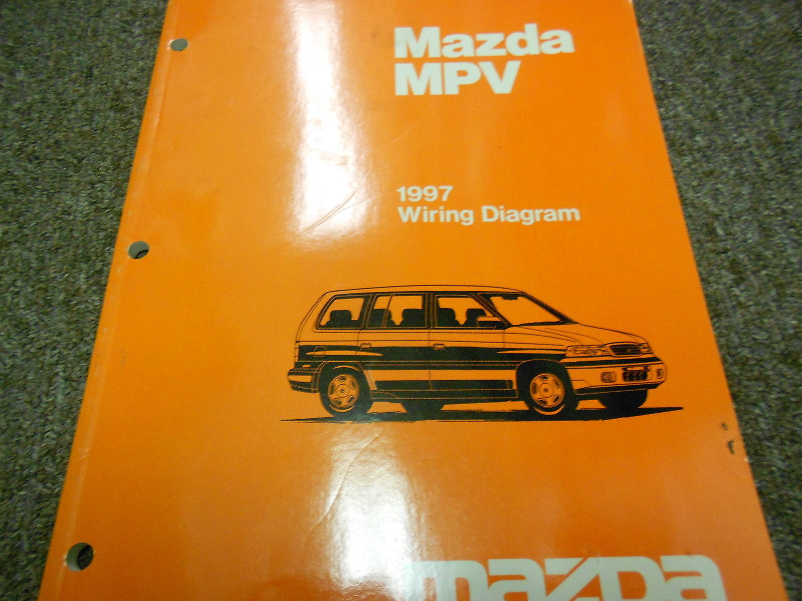 hight resolution of 1997 mazda mpv van electrical wiring diagram service repair shop manual 97 17 77