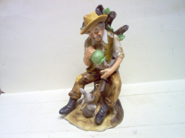 "Lefton Bisque Figurine"" Hunter"" - People"