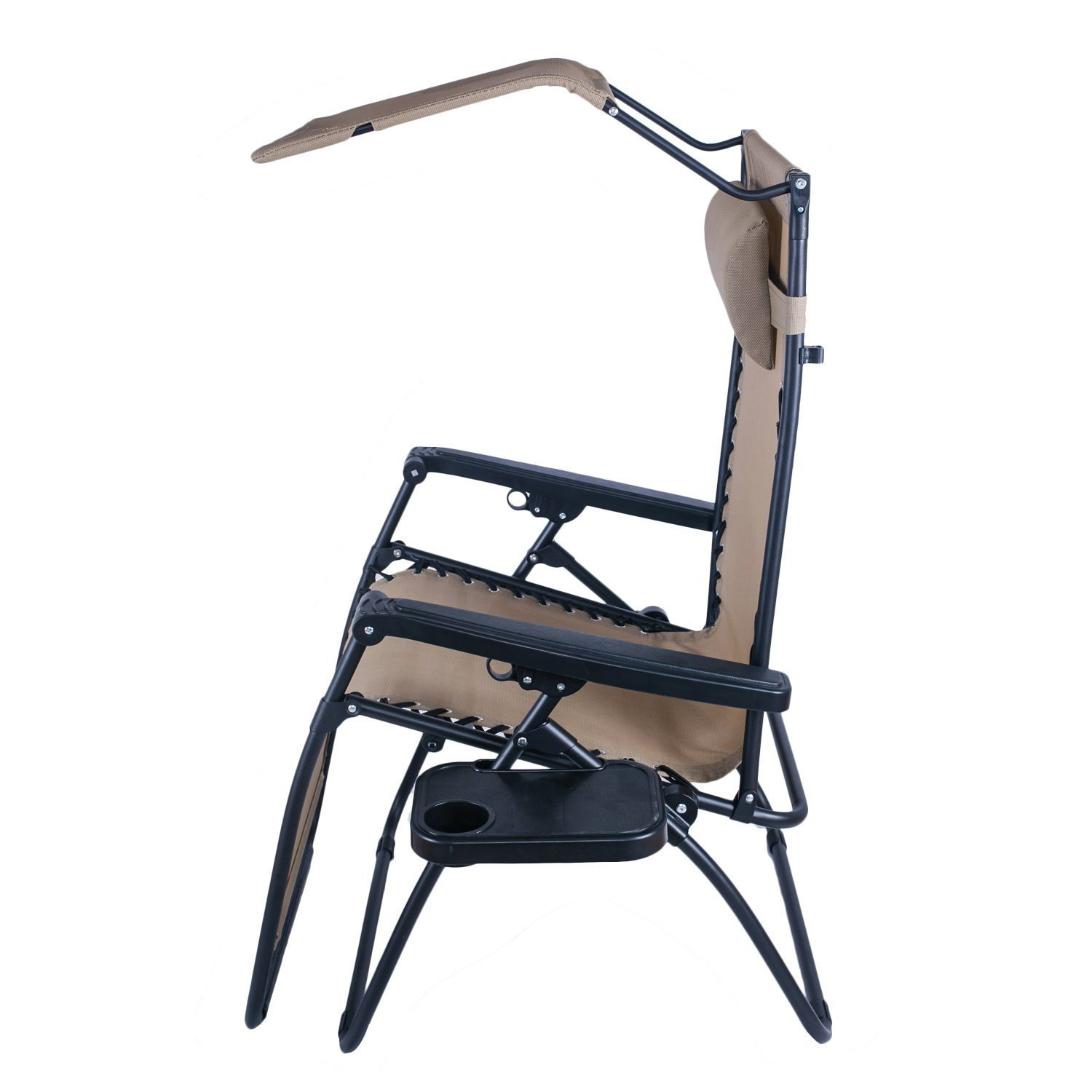 outdoor folding chair with canopy seat covers for kitchen chairs adeco and reclining zero gravity