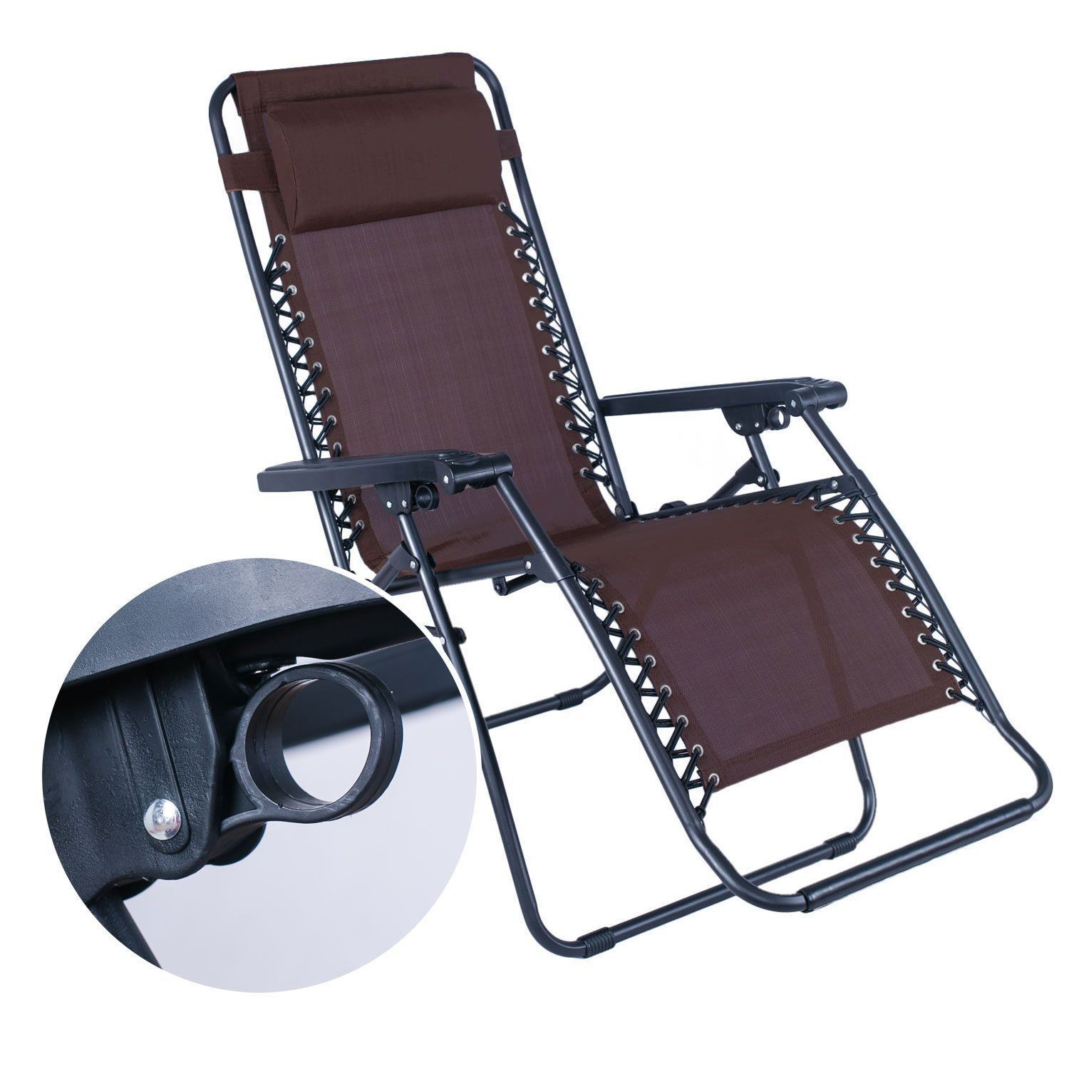Portable Recliner Chair Adeco Portable Recliner Chair With Adjustable Headrest