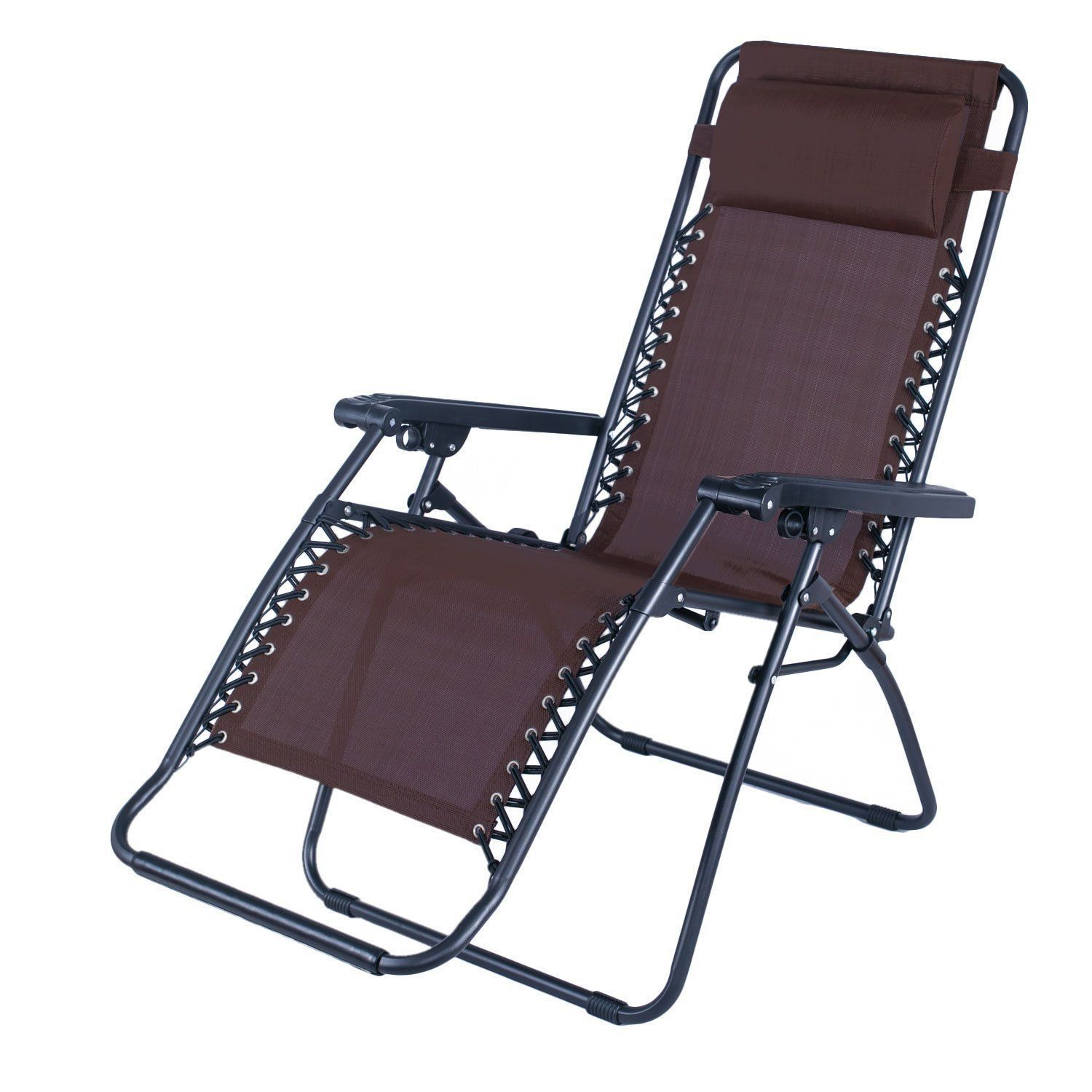 Adeco Portable Recliner Chair with adjustable headrest