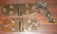 Brass Singer Cabinet Sewing Machine Table Top Hinges Pair ...