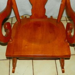Maple Rocking Chair Easy Chairs For The Elderly Tell City Farmhouse Rocker Post 1950