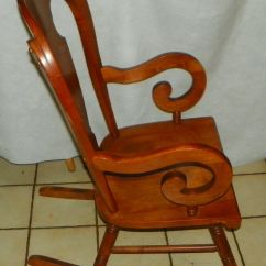 Maple Rocking Chair Knoll Chadwick Task Tell City Farmhouse Rocker Post 1950