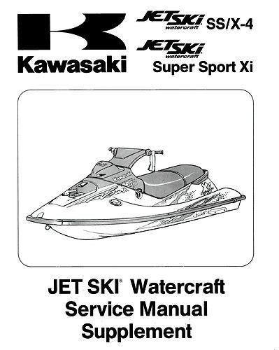 Kawasaki JetSki 750 SS X4 X-4 Super Sport Xi Shop Service