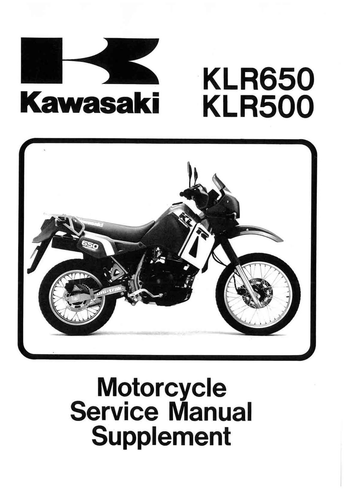 klr 650 shop manual