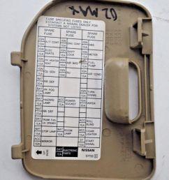 00 01 02 03 nissan maxima tan fuse block cover lid door panel [ 1049 x 1207 Pixel ]