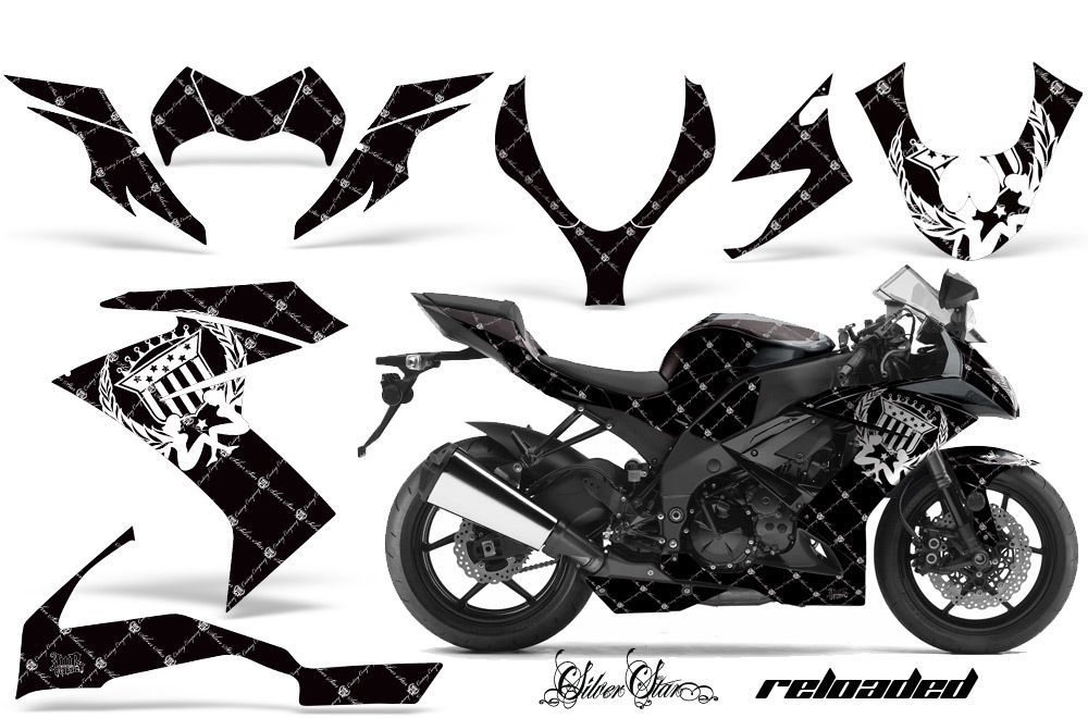 Street Bike Graphic Kit Decal Wrap For Kawasaki Ninja