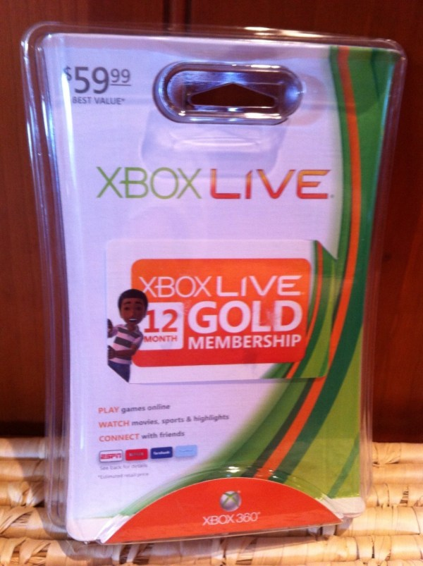 12-month 1 Year Xbox 360 Live Gold Membership Code