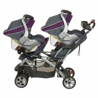 Double Twin Stroller Travel System with 2 Infant Car Seats ...