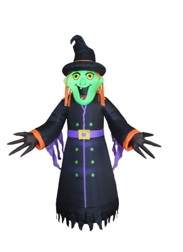 Halloween Inflatable Witch Monster Lights And 50 Similar Items