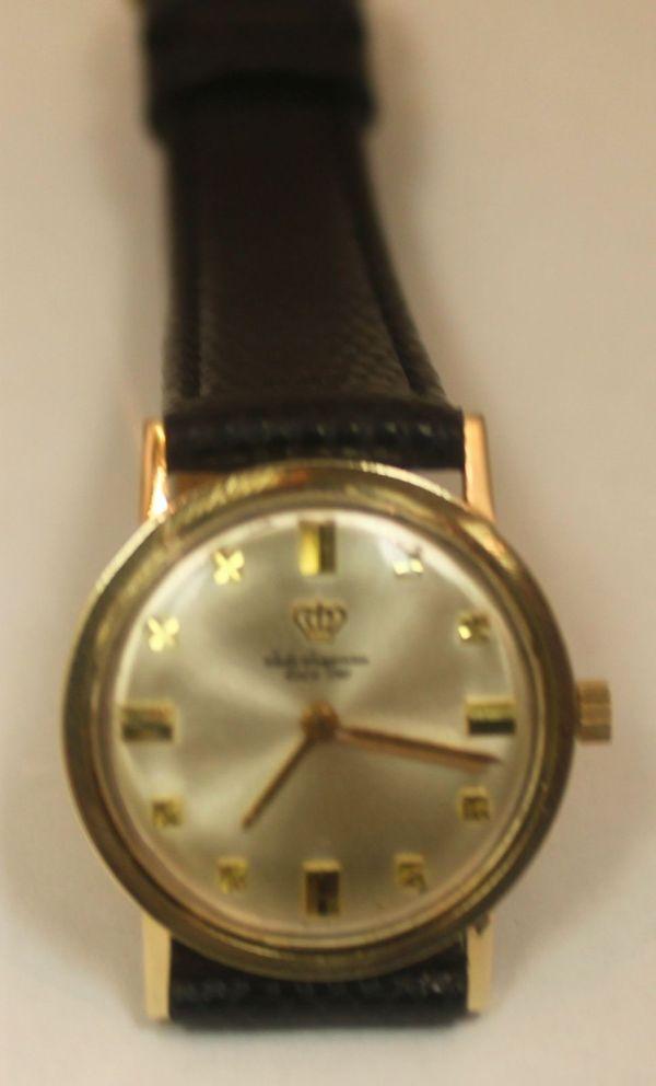 Vintage Jules Jurgensen 14k Yellow Gold Watch - Wristwatches