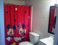 Mickey Minnie Mouse Fabric Shower Curtain Bathroom Fun ...