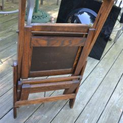 Folding Chair Ladder Contemporary Office Black Vtg Antique Wood Library Step Stool