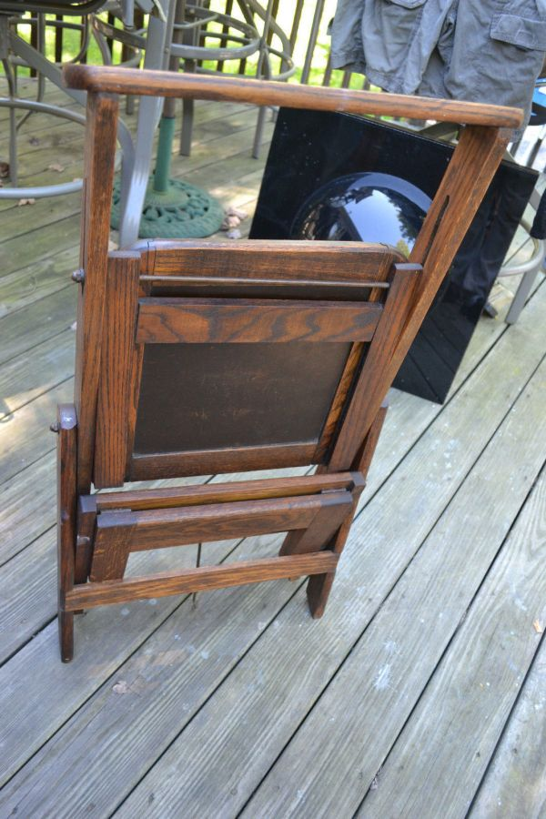 Folding Step Stool Ladder Chair Library