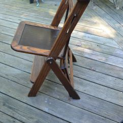 Folding Chair Ladder Reupholster Rocking Vtg Antique Wood Library Step Stool