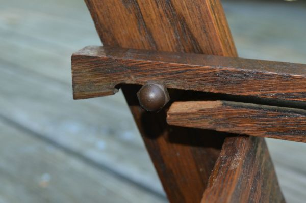 Antique Wooden Folding Step Stool