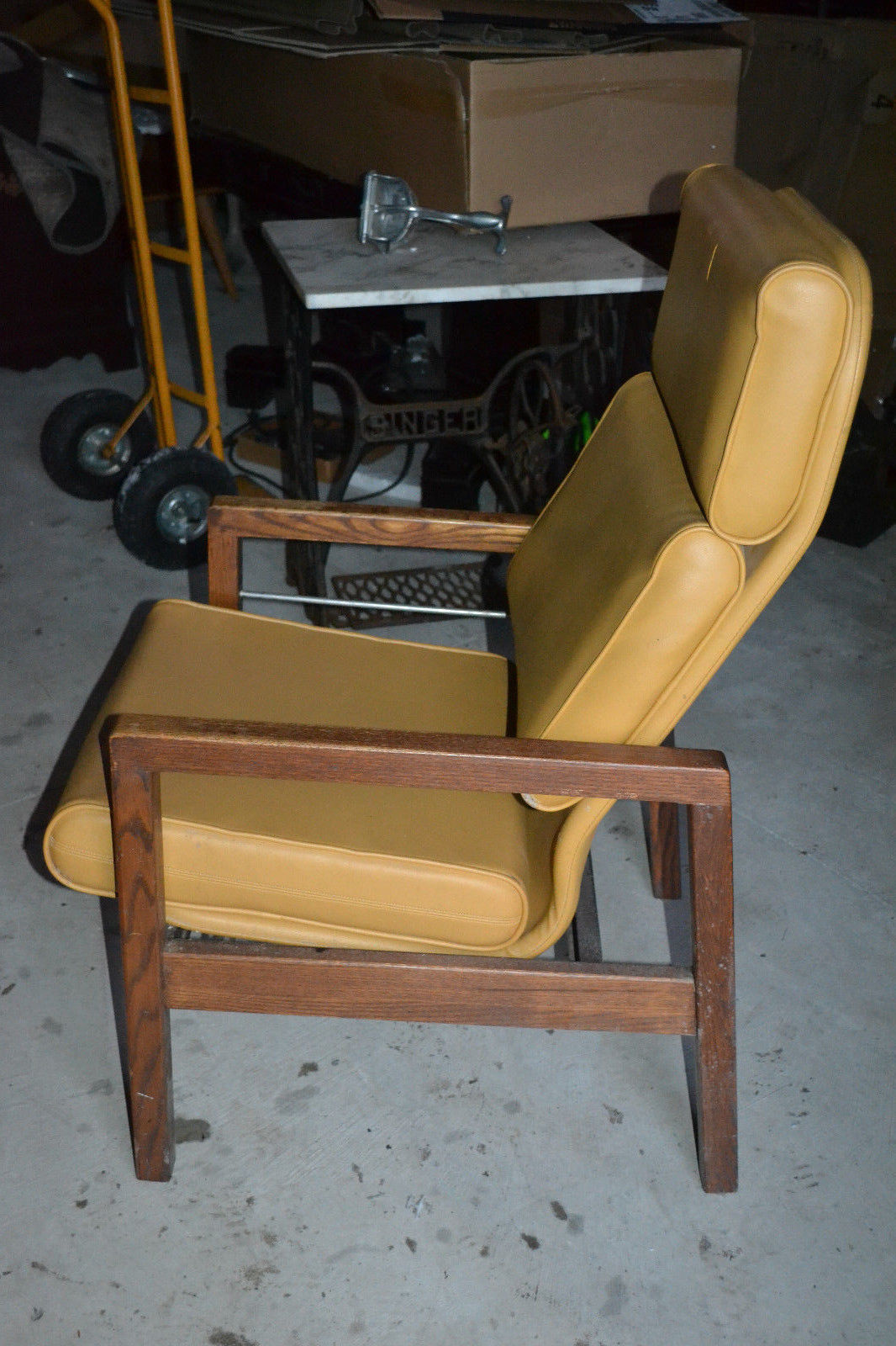 wood chair parts suppliers outdoor egg nz vtg hill rom mid century hospital patient lounge vinyl