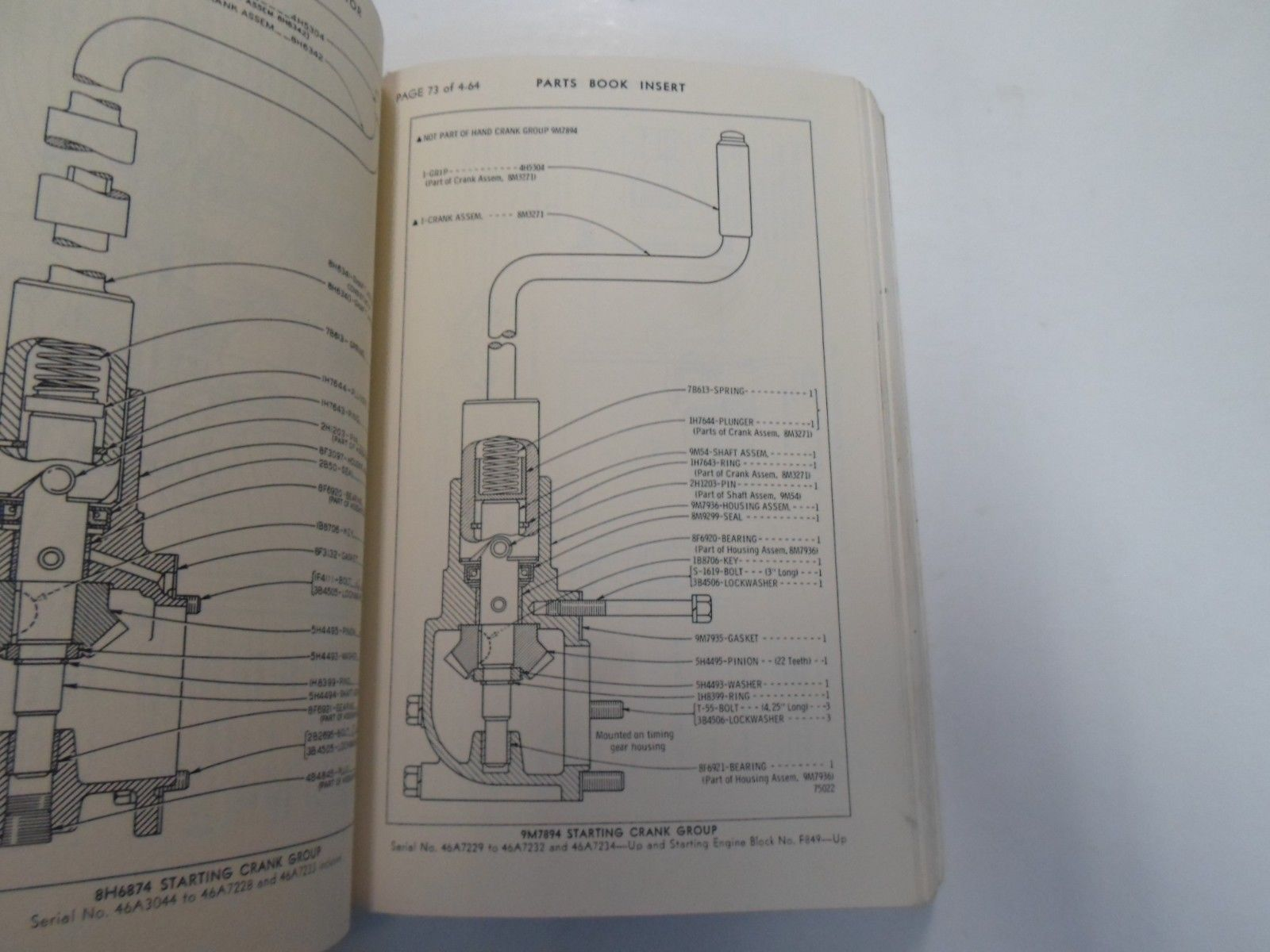 hight resolution of caterpillar d8 tractor power shift parts book manual 46a3044 to 46a10724 stain