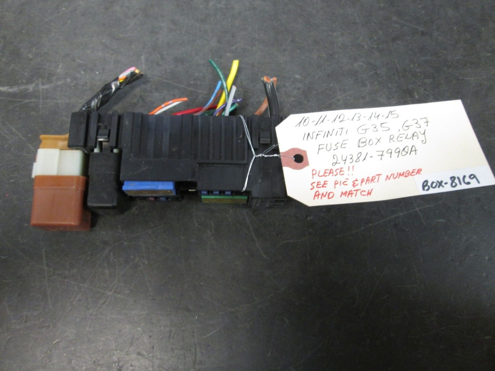 hight resolution of 10 11 12 13 14 infiniti g35 g37 fuse box and 50 similar itemss l1600