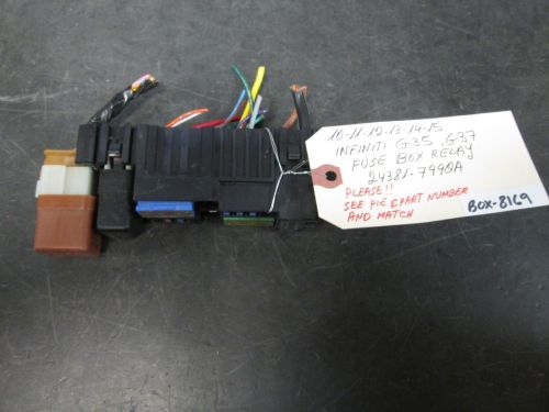 small resolution of 10 11 12 13 14 infiniti g35 g37 fuse box and 50 similar itemss l1600