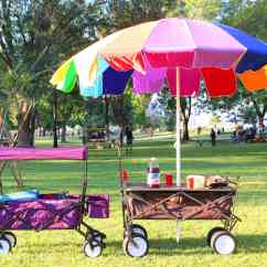 Portable Beach Chair With Umbrella Rocking Footrest India All Terrain Collapsible Table Wagon Camping Cart
