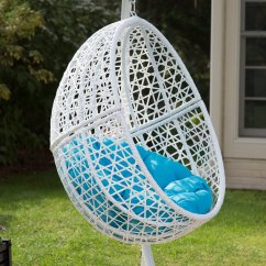 Egg Swing Chair Adirondack Plans Free Hanging Stand Pool Cushion Deck Patio Seat