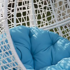 Egg Chair Cushion Folding Ganging Clips Swing Hanging Stand Pool Deck Patio Seat