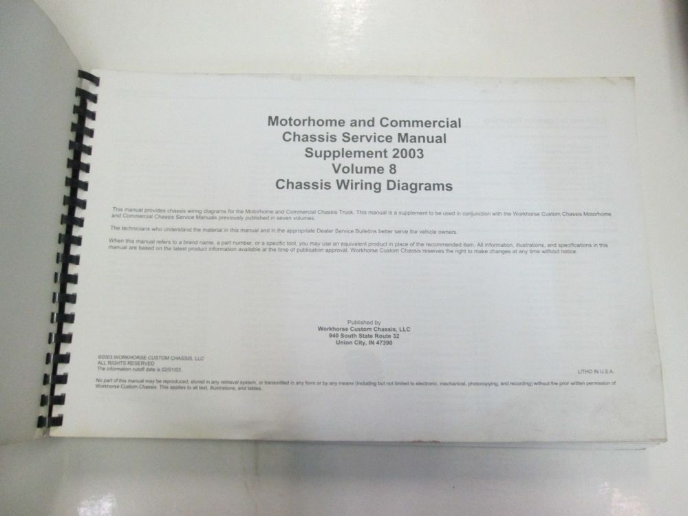 medium resolution of  workhorse custom chis service manual and 50 similar items on trailer wiring diagram 2000 freightliner