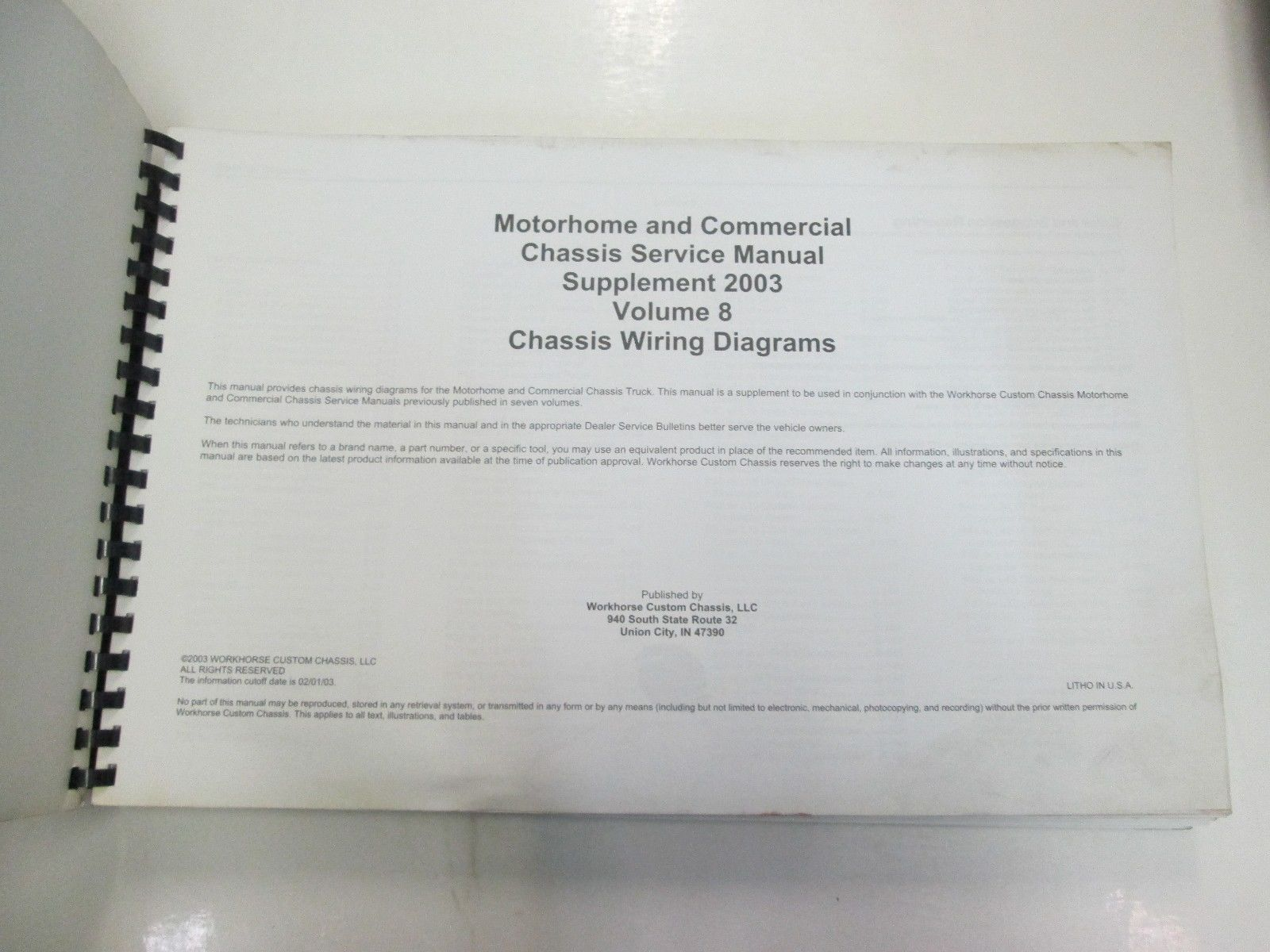 hight resolution of  workhorse custom chis service manual and 50 similar items on trailer wiring diagram 2000 freightliner