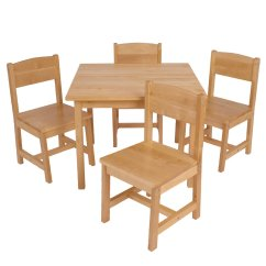 Kid Table And Chairs Hanging Chair For Room Kids Farmhouse Children 5 Piece Sturdy Wooden Wood