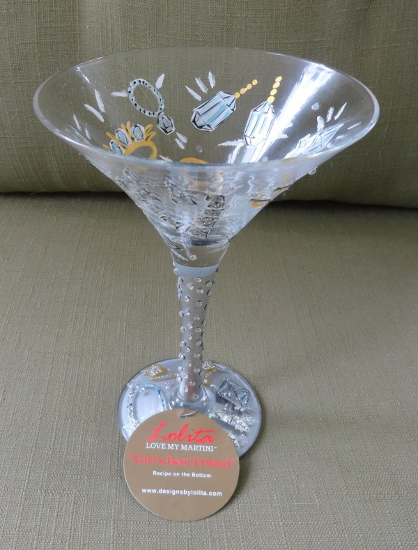 Lolita Girl' Friend Martini Glass Hand Painted Seven