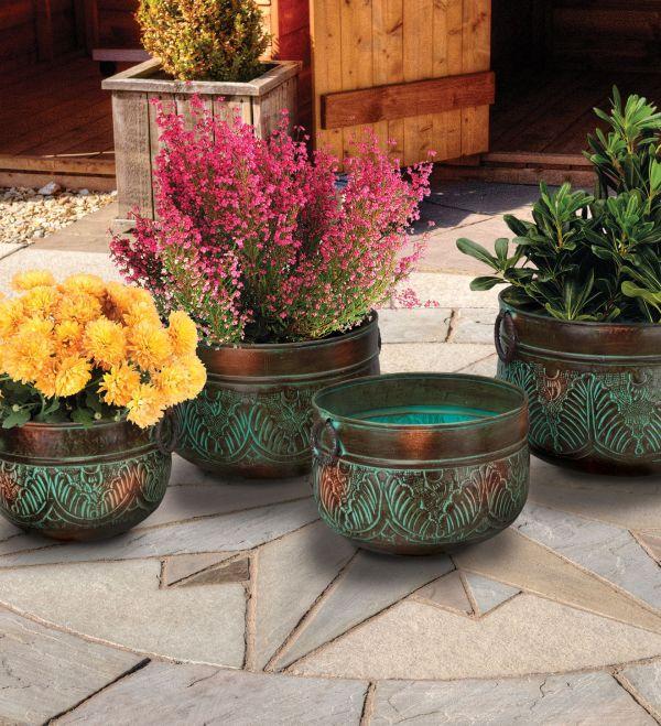 Metal Garden Flower Pot Planter