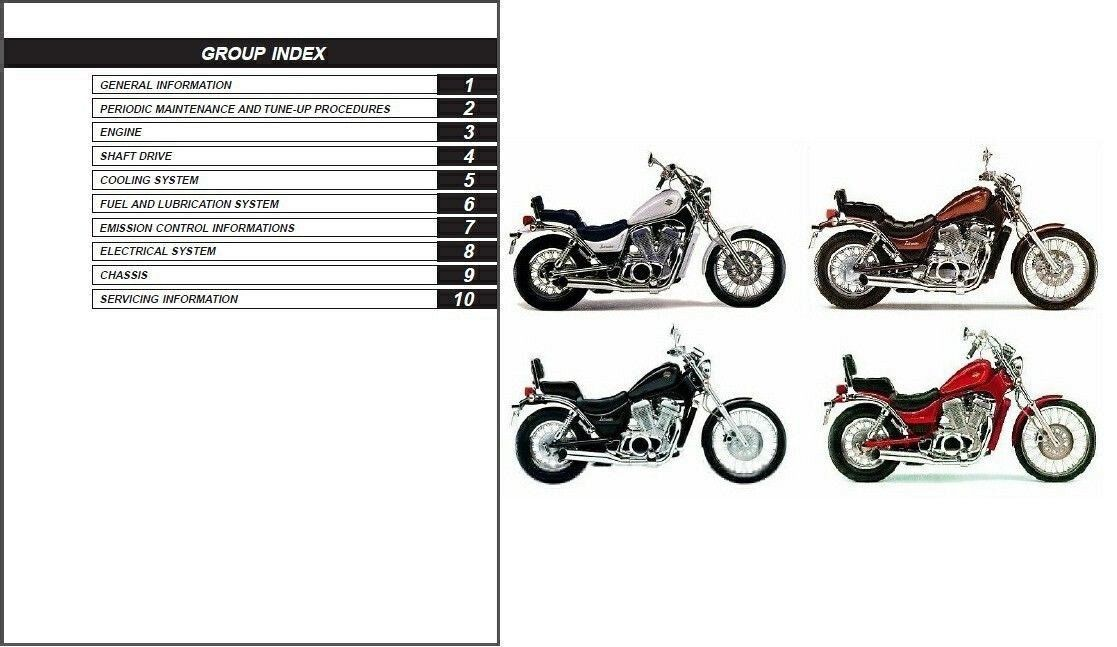 1986-2009 Suzuki Intruder 700 750 800 ( VS700 VS750 VS800