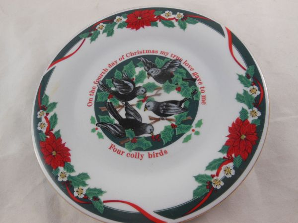 Tienshan Deck Halls Fine China 4th Day Of Christmas 7