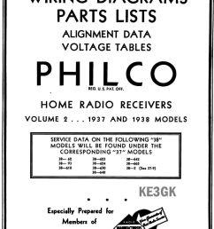 philco wiring diagrams and parts list 1928 1938 pdf cdrom [ 1141 x 1600 Pixel ]