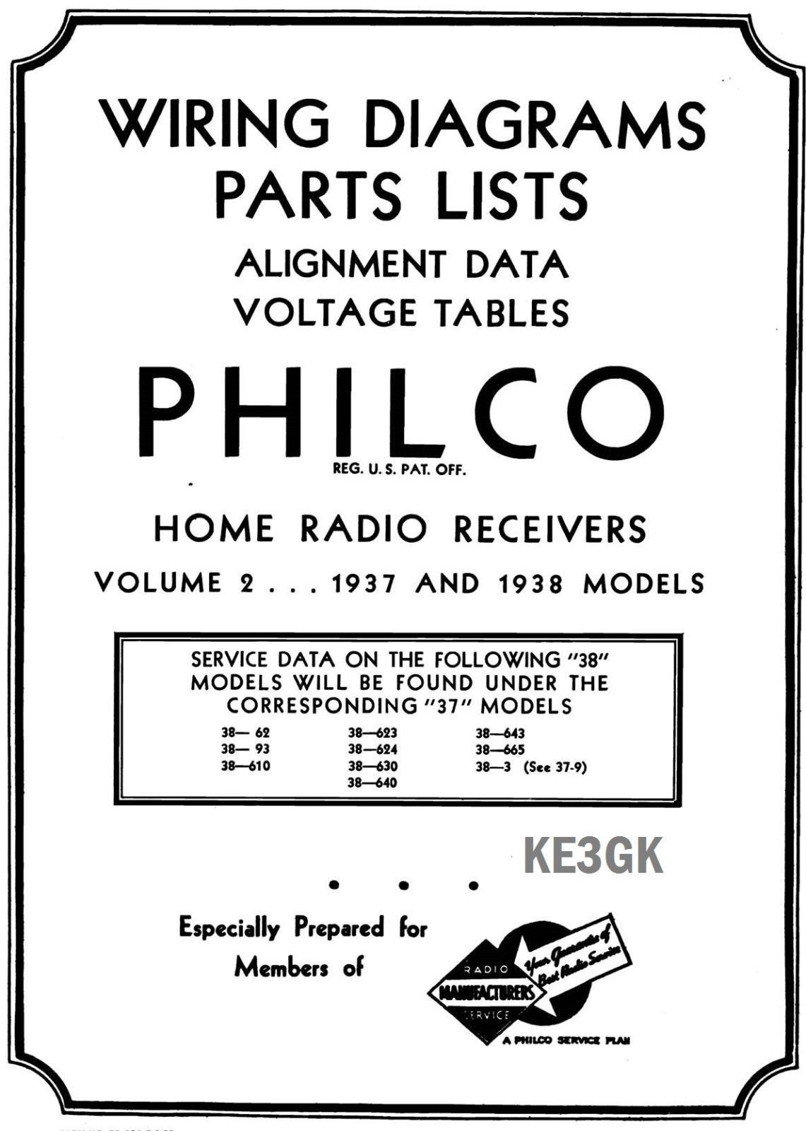 hight resolution of philco wiring diagrams and parts list 1928 1938 pdf cdrom