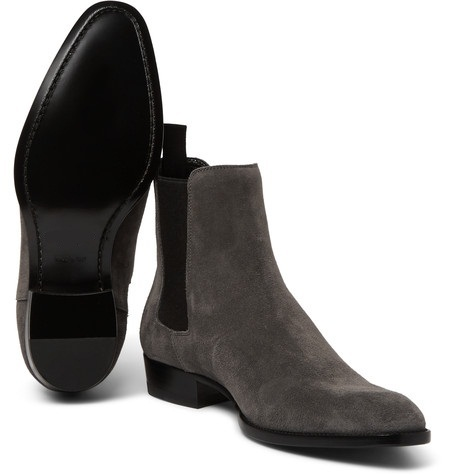 New Handmade men Black ankle high boot Men suede boots