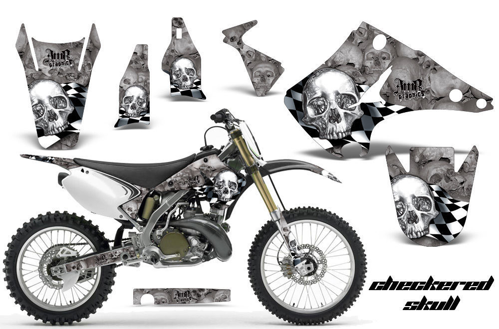 Dirt Bike Decal Graphics Kit Wrap For Kawasaki KX125 KX250