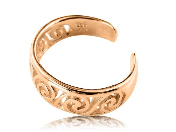 10k Solid Yellow Gold Celtic Swirl Toe Ring And Similar Items