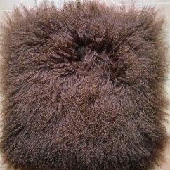 Fur Chair Cover Comfy Gaming Chairs Brown Mongolian Lamb Pillow Sofa Cushion