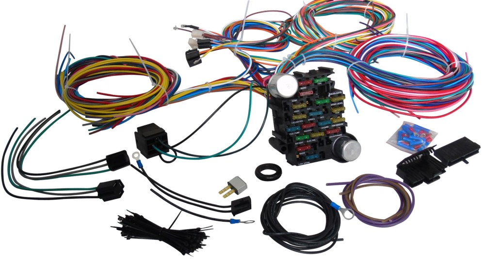 medium resolution of 65 73 ford mustang 21 circuit universal wiring harness wire kit xl65 73 ford mustang 21