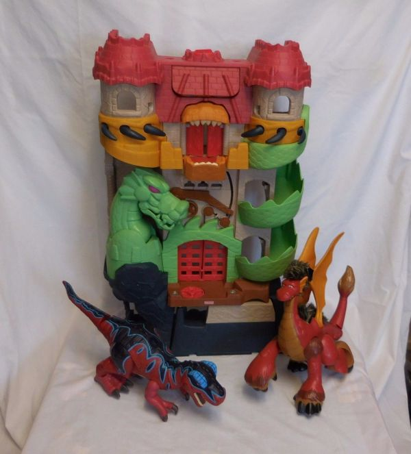 Fisher Imaginext Dragon World Castle And 43 Similar