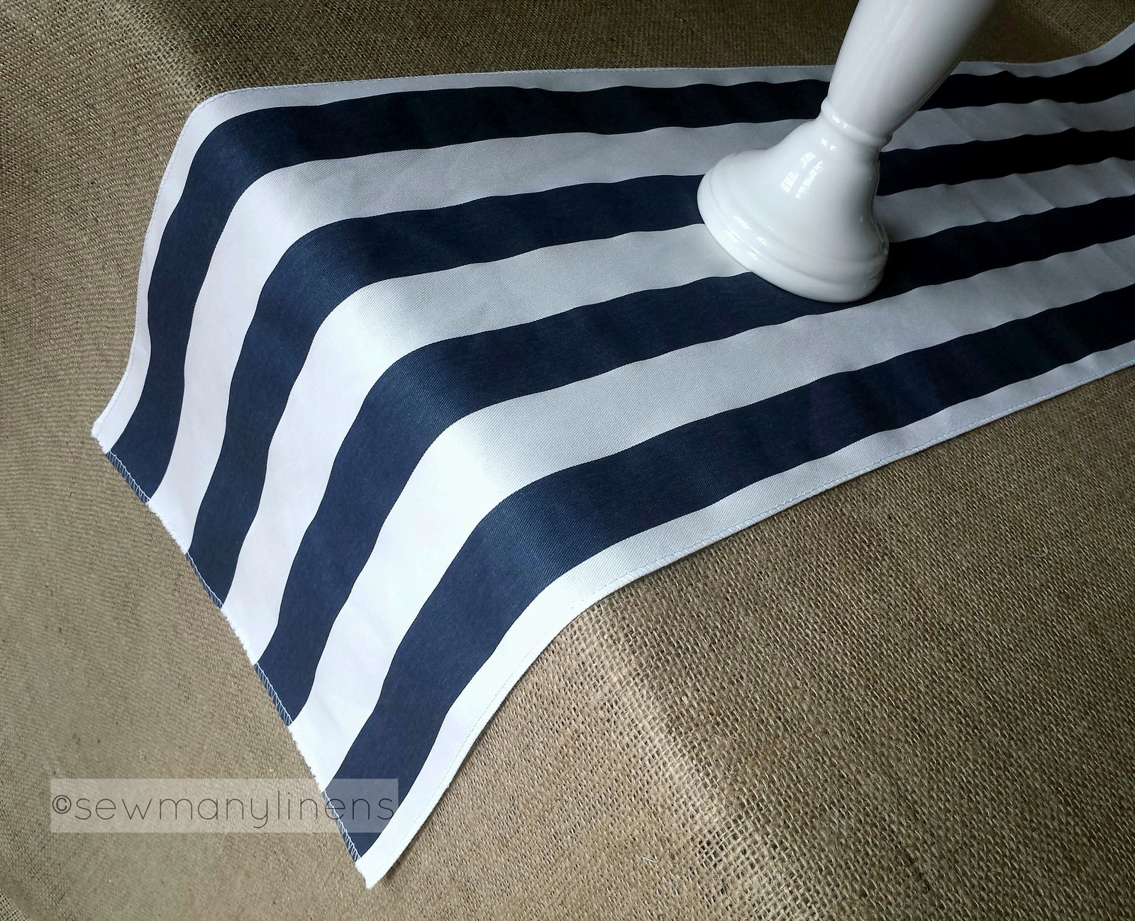 Navy Blue Table Runner Wedding Table Centerpiece Nautical